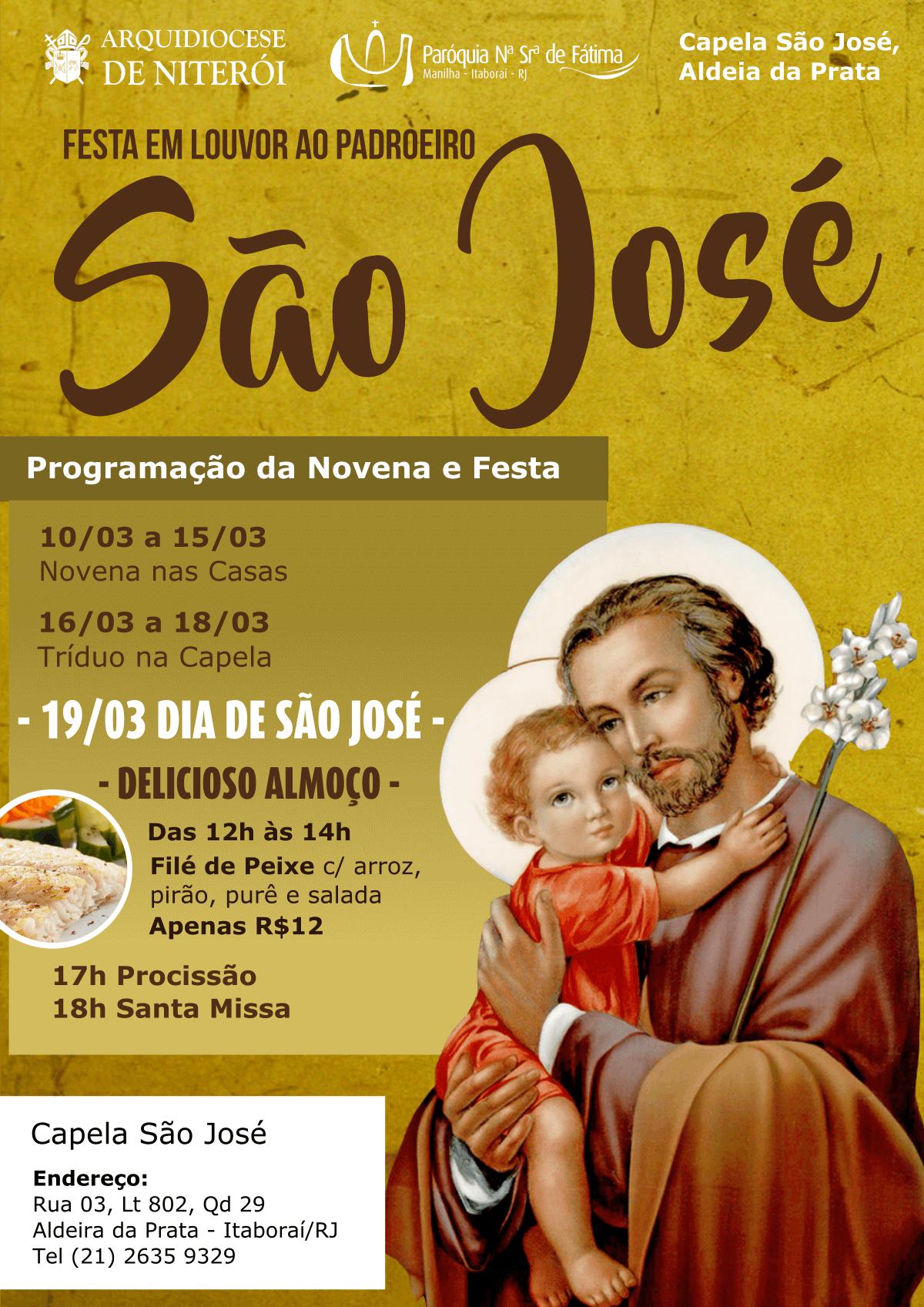 Programação Festa São José 2017